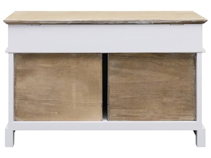vidaXL Ławka do przedpokoju, 70 x 35 x 45 cm, drewno paulownia Skrzynia Kolor Biały