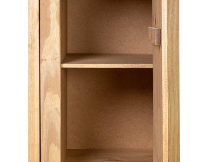 vidaXL Szafa trzydrzwiowa, 118 x 50 x 171,5 cm, sosna, seria Panama Drewno Głębokość 50 cm Szerokość 118 cm Kolor Brązowy