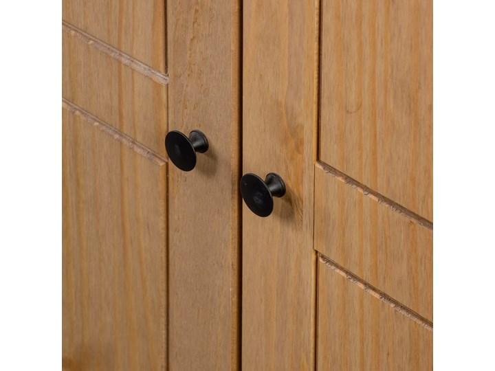 vidaXL Szafa trzydrzwiowa, 118 x 50 x 171,5 cm, sosna, seria Panama Głębokość 50 cm Szerokość 118 cm Drewno Styl Rustykalny