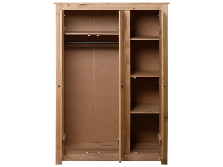 vidaXL Szafa trzydrzwiowa, 118 x 50 x 171,5 cm, sosna, seria Panama Szerokość 118 cm Drewno Głębokość 50 cm Kolor Brązowy