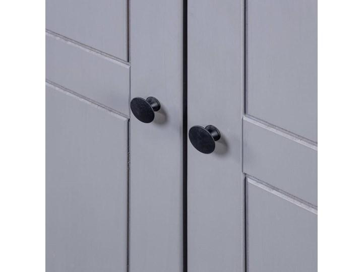 vidaXL Szafa, szara, 80 x 50 x 171,5 cm, lita sosna, seria Panama