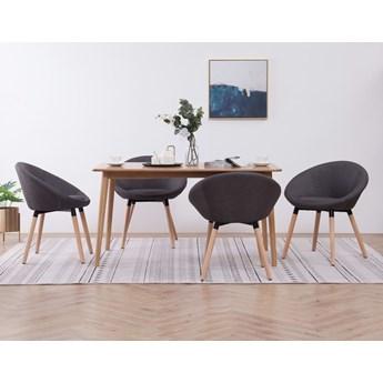 vidaXL Krzesła do jadalni, 4 szt., ciemnoszare, tkanina