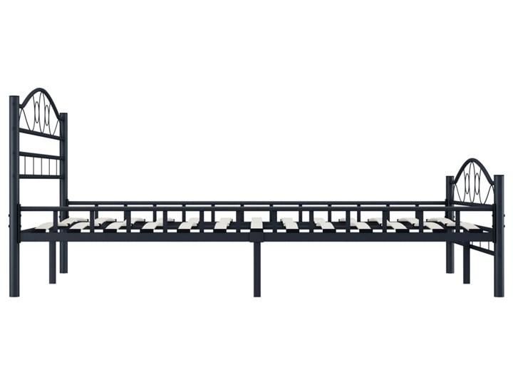 vidaXL Rama łóżka, czarna, stalowa, 120 x 200 cm Rozmiar materaca 120x200 cm Łóżko metalowe Kolor Czarny