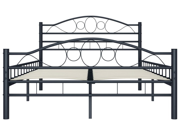 vidaXL Rama łóżka, czarna, stalowa, 120 x 200 cm Łóżko metalowe Rozmiar materaca 120x200 cm
