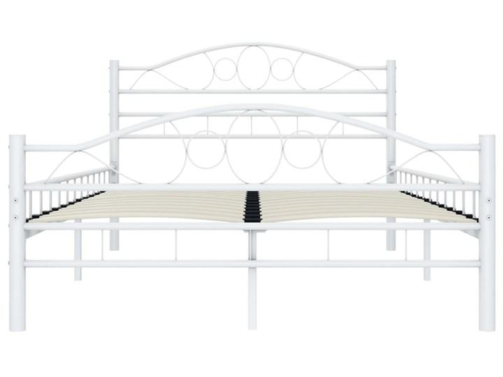 vidaXL Rama łóżka, biała, metalowa, 120 x 200 cm Łóżko metalowe Kategoria Łóżka do sypialni