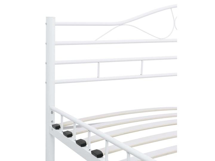 vidaXL Rama łóżka, biała, metalowa, 120 x 200 cm Łóżko metalowe Rozmiar materaca 120x200 cm
