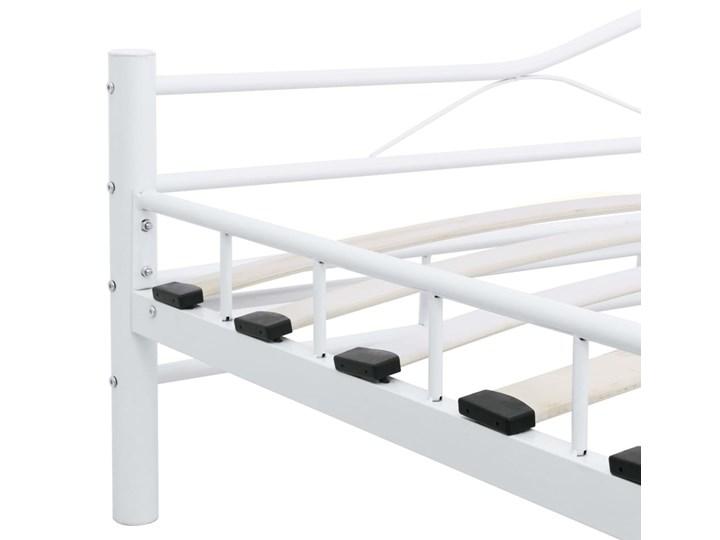 vidaXL Rama łóżka, biała, metalowa, 120 x 200 cm Kategoria Łóżka do sypialni Łóżko metalowe Rozmiar materaca 120x200 cm