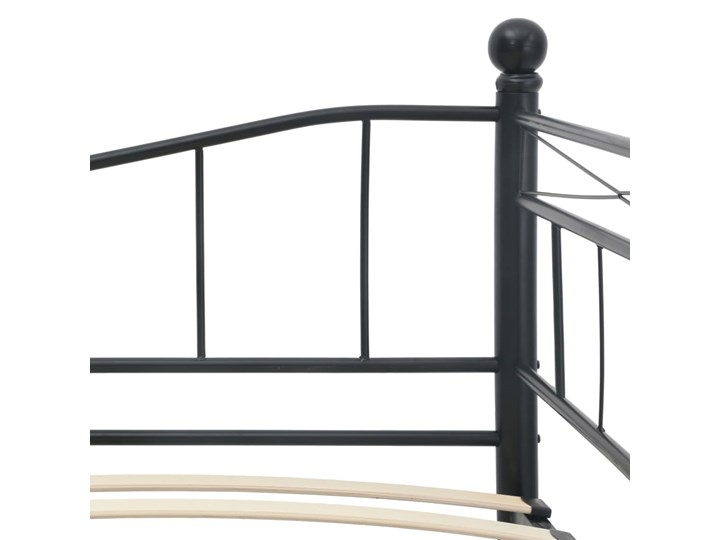 vidaXL Rama łóżka, czarna, stalowa, 180x200/90x200 cm Łóżko metalowe Kolor Czarny Kategoria Łóżka do sypialni