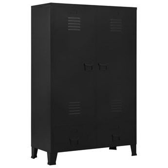 vidaXL Szafa w stylu industrialnym, czarna, 90x40x140 cm, stal