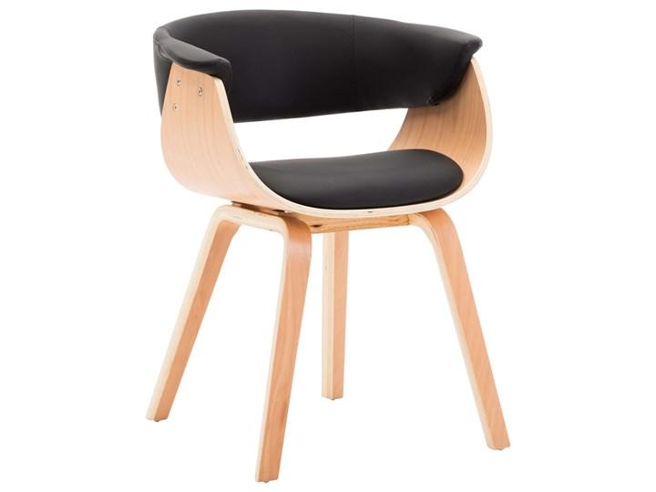 vidaXL Krzesła do jadalni, 4 szt., czarne, gięte drewno i ekoskóra