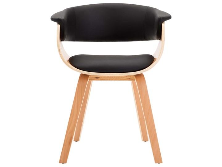 vidaXL Krzesła do jadalni, 4 szt., czarne, gięte drewno i ekoskóra Skóra ekologiczna Szerokość 59,5 cm Pomieszczenie Jadalnia Szerokość 43 cm Wysokość 72 cm Głębokość 38 cm Kategoria Krzesła kuchenne