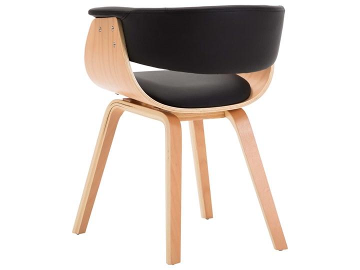 vidaXL Krzesła do jadalni, 4 szt., czarne, gięte drewno i ekoskóra Szerokość 43 cm Głębokość 38 cm Skóra ekologiczna Szerokość 59,5 cm Kategoria Krzesła kuchenne Wysokość 72 cm Pomieszczenie Jadalnia