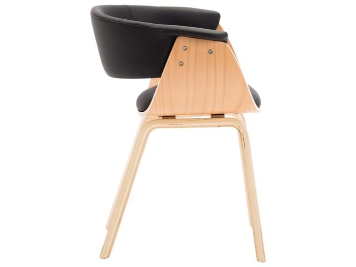 vidaXL Krzesła do jadalni, 4 szt., czarne, gięte drewno i ekoskóra Szerokość 43 cm Głębokość 38 cm Kategoria Krzesła kuchenne Wysokość 72 cm Skóra ekologiczna Szerokość 59,5 cm Kolor Czarny