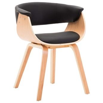 vidaXL Krzesła do jadalni, 6 szt., czarne, gięte drewno i ekoskóra