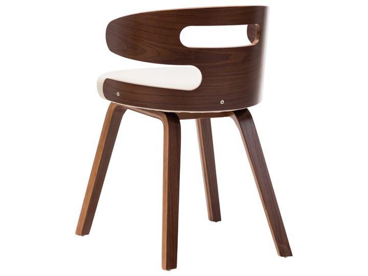 vidaXL Krzesła do jadalni, 4 szt., kremowe, gięte drewno i ekoskóra Skóra ekologiczna Kolor Beżowy Styl Nowoczesny