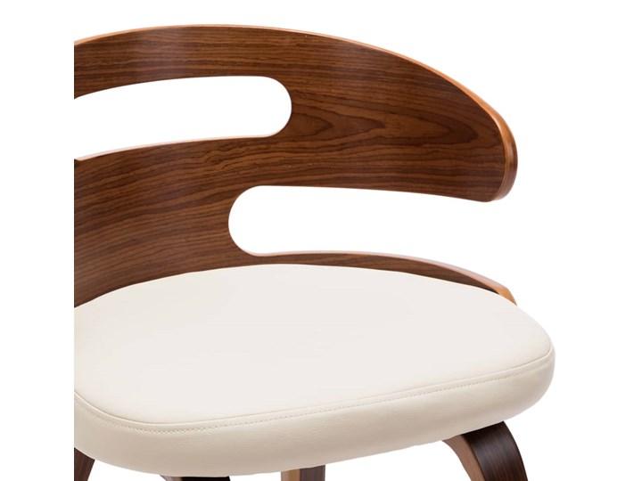 vidaXL Krzesła do jadalni, 4 szt., kremowe, gięte drewno i ekoskóra Skóra ekologiczna Kategoria Krzesła kuchenne Styl Nowoczesny