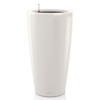 LECHUZA Donica Rondo 40 ALL-IN-ONE, biała, wysoki połysk, 15740