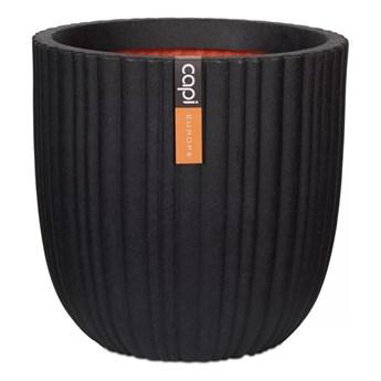Capi Owalna donica Urban Tube, 43 x 41 cm, czarna, KBLT933