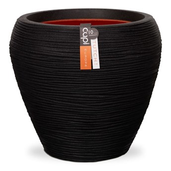 Capi Donica Nature Rib, stożkowa, 42x38 cm, czarna, KBLR362
