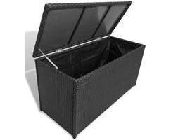 vidaXL Skrzynia ogrodowa, czarna, 120 x 50 x 60 cm, rattan PE