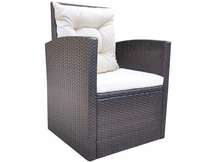 vidaXL 6-cz. zestaw mebli ogrodowych z poduszkami, rattan PE, brązowy Technorattan Zestawy wypoczynkowe Tworzywo sztuczne Zawartość zestawu Fotele Kategoria Zestawy mebli ogrodowych