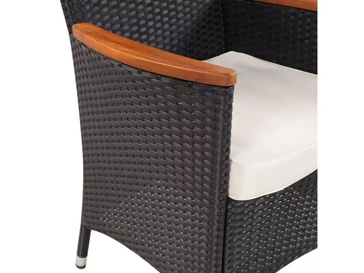 vidaXL 9-cz. zestaw mebli ogrodowych z poduszkami, rattan PE Zawartość zestawu Stół Stoły z krzesłami Technorattan Kategoria Zestawy mebli ogrodowych