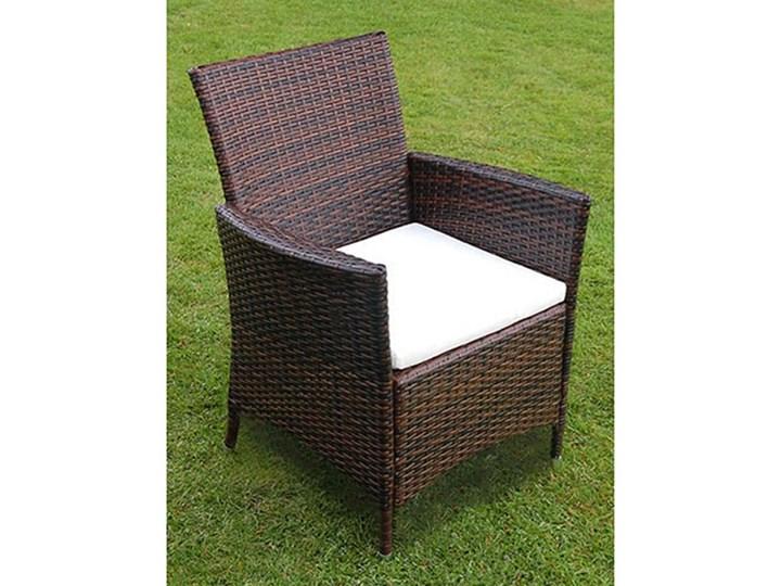vidaXL 9-cz. zestaw mebli ogrodowych z poduszkami, rattan PE, brązowy Stoły z krzesłami Technorattan Aluminium Stal Liczba miejsc Ośmioosobowy