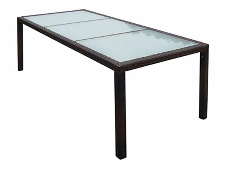 vidaXL 9-cz. zestaw mebli ogrodowych z poduszkami, rattan PE, brązowy Stal Technorattan Stoły z krzesłami Aluminium Liczba miejsc Ośmioosobowy