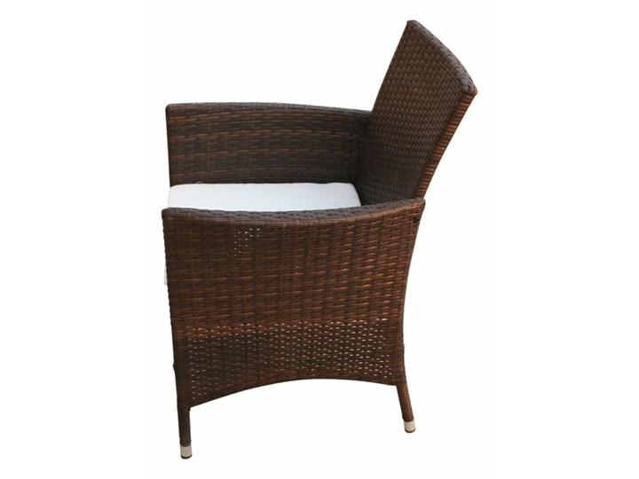vidaXL 9-cz. zestaw mebli ogrodowych z poduszkami, rattan PE, brązowy Technorattan Aluminium Stoły z krzesłami Stal Zawartość zestawu Krzesła