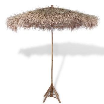 vidaXL Parasol bambusowy z pokryciem z liści bananowca, 210 cm
