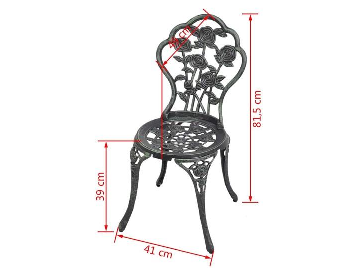 vidaXL Krzesła bistro, 2 szt., odlewane aluminium, zielone Krzesła tradycyjne Kategoria Krzesła ogrodowe