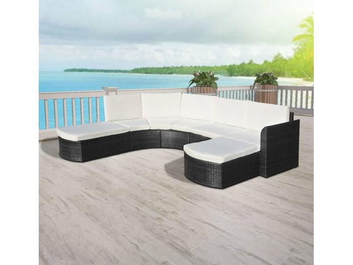 vidaXL 4-cz. zestaw wypoczynkowy do ogrodu, poduszki, rattan PE czarny Zestawy modułowe Zestawy wypoczynkowe Zawartość zestawu Puf Liczba miejsc Pięcioosobowy