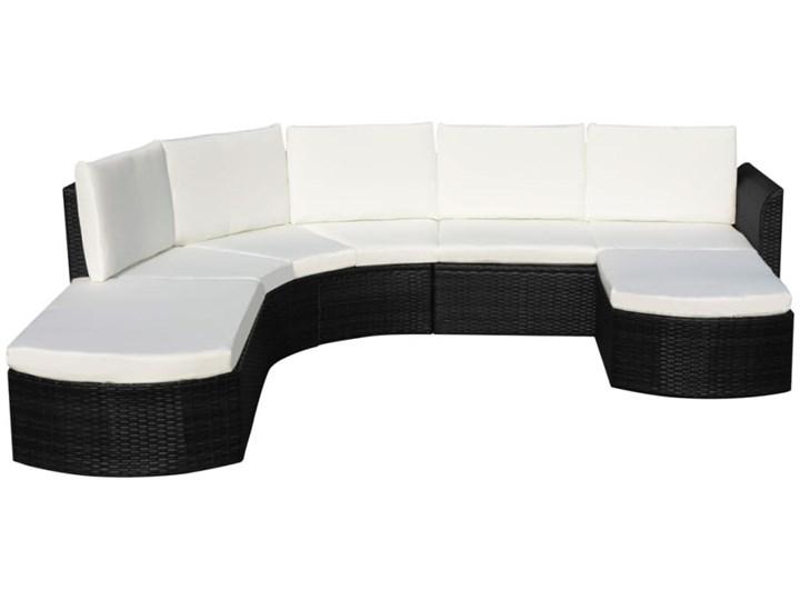 vidaXL 4-cz. zestaw wypoczynkowy do ogrodu, poduszki, rattan PE czarny Zestawy wypoczynkowe Zestawy modułowe Liczba miejsc Pięcioosobowy Zawartość zestawu Sofa