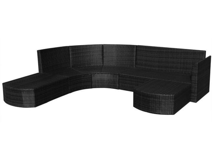 vidaXL 4-cz. zestaw wypoczynkowy do ogrodu, poduszki, rattan PE czarny Zestawy modułowe Zestawy wypoczynkowe Kategoria Zestawy mebli ogrodowych