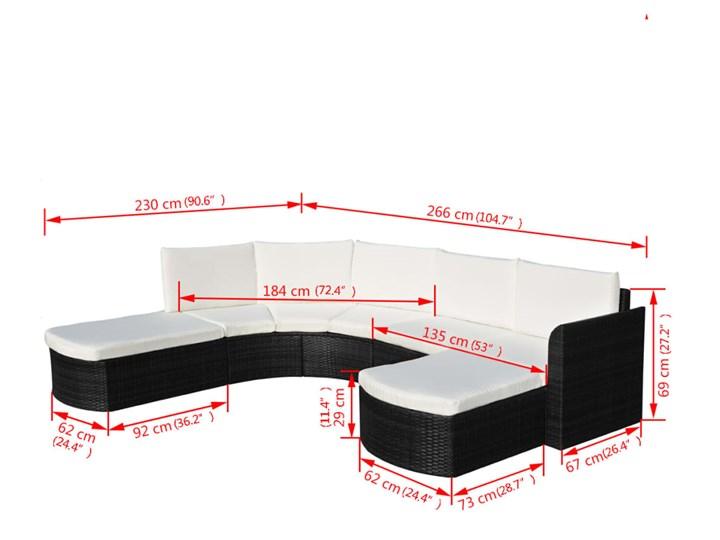 vidaXL 4-cz. zestaw wypoczynkowy do ogrodu, poduszki, rattan PE czarny Zestawy wypoczynkowe Zestawy modułowe Zawartość zestawu Sofa