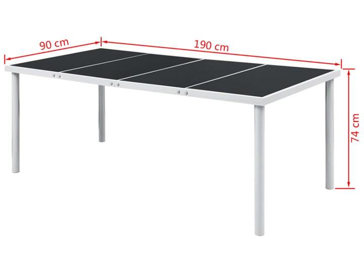 vidaXL 9-cz. zestaw mebli ogrodowych, stalowy, czarny Stoły z krzesłami Zawartość zestawu Stół