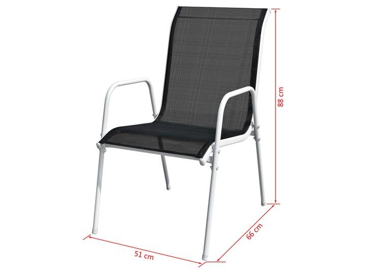vidaXL 9-cz. zestaw mebli ogrodowych, stalowy, czarny Stoły z krzesłami Zawartość zestawu Krzesła