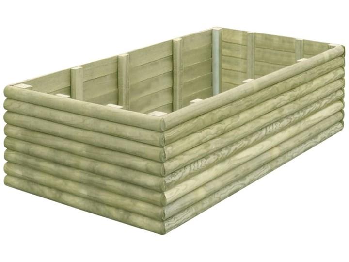 vidaXL Podwyższona donica, 150x106x48 cm, impregnowana sosna, 19 mm Drewno Donica ogrodowa Donica balkonowa Kategoria Donice ogrodowe Kolor Beżowy