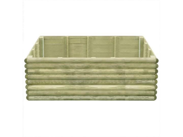 vidaXL Podwyższona donica, 150x106x48 cm, impregnowana sosna, 19 mm Donica ogrodowa Drewno Kategoria Donice ogrodowe Donica balkonowa Kolor Beżowy