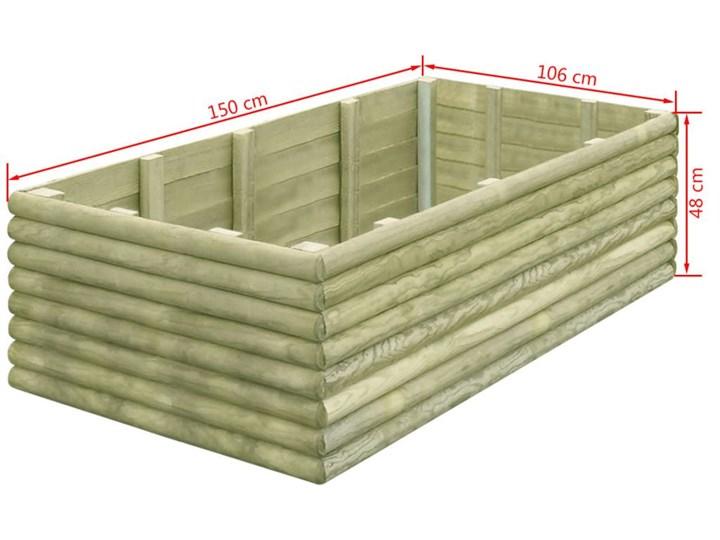 vidaXL Podwyższona donica, 150x106x48 cm, impregnowana sosna, 19 mm Donica balkonowa Drewno Donica ogrodowa Kategoria Donice ogrodowe