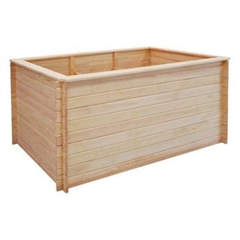 vidaXL Podwyższona donica, 150x100x80 cm, drewno sosnowe, 19 mm
