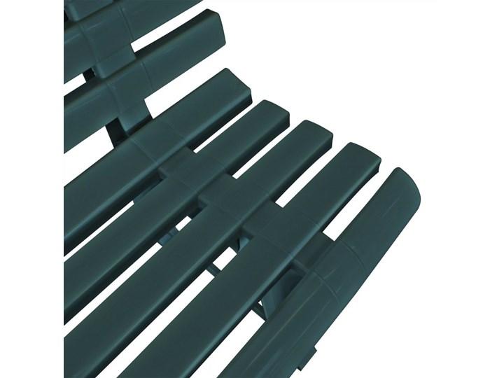 vidaXL Ławka ogrodowa, 145,5 cm, plastik, zielona Kolor Khaki Tworzywo sztuczne Z oparciem Kolor Zielony