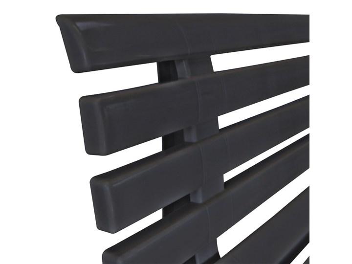 vidaXL Ławka ogrodowa, 145,5 cm, plastik, antracytowa Kolor Czarny Z oparciem Tworzywo sztuczne Kategoria Ławki ogrodowe