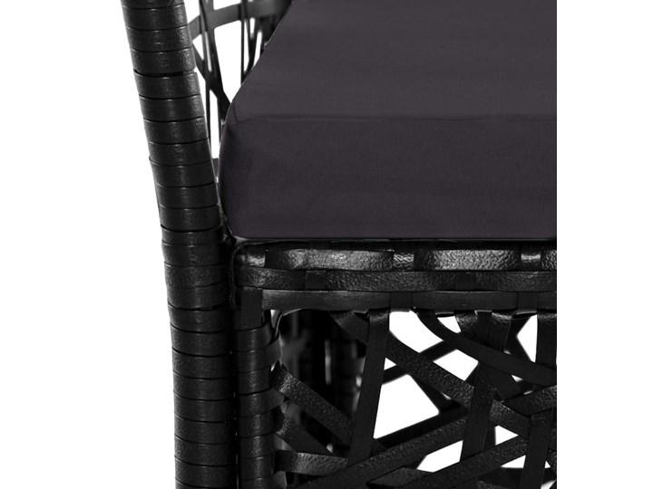 vidaXL 9-cz. zestaw mebli ogrodowych, rattan PE, czarny Stoły z krzesłami Technorattan Stal Kategoria Zestawy mebli ogrodowych
