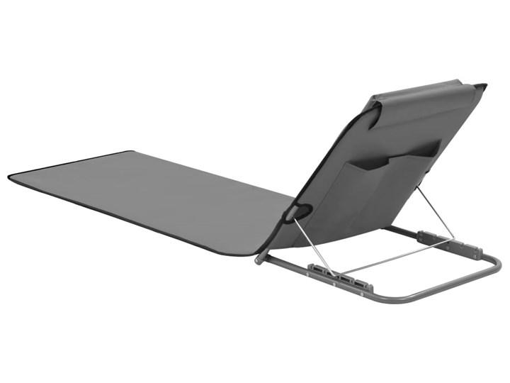 vidaXL Składane maty plażowe, 2 szt., stal i tkanina, szare Kategoria Leżaki ogrodowe Metal Z regulowanym oparciem Kolor Szary