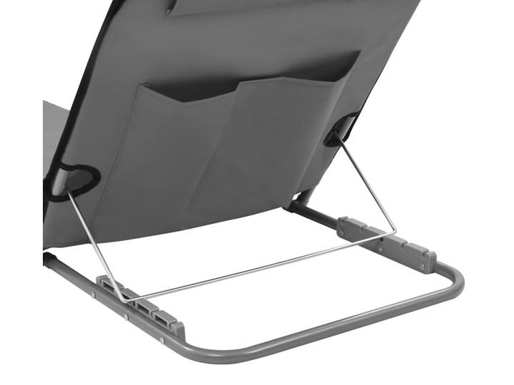 vidaXL Składane maty plażowe, 2 szt., stal i tkanina, szare Metal Z regulowanym oparciem Kategoria Leżaki ogrodowe