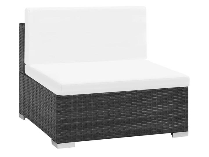 vidaXL 6-cz. zestaw wypoczynkowy do ogrodu, poduszki, rattan PE czarny Zestawy modułowe Stal Zestawy wypoczynkowe Technorattan Tworzywo sztuczne Kolor Biały