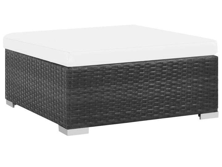 vidaXL 6-cz. zestaw wypoczynkowy do ogrodu, poduszki, rattan PE czarny Stal Zawartość zestawu Sofa Technorattan Zestawy modułowe Tworzywo sztuczne Zestawy wypoczynkowe Zawartość zestawu Stolik