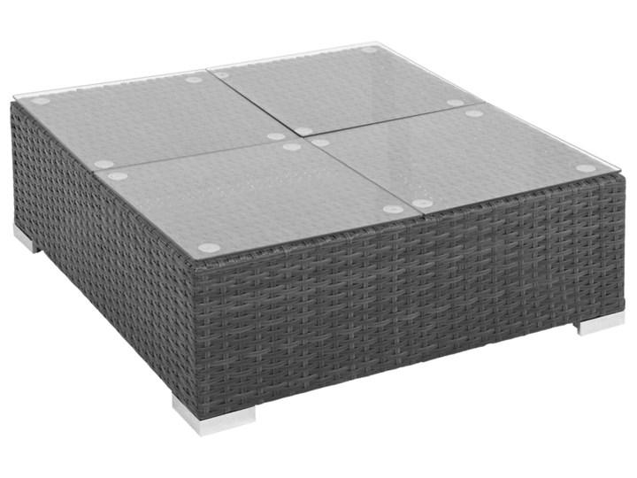 vidaXL 6-cz. zestaw wypoczynkowy do ogrodu, poduszki, rattan PE czarny Stal Zestawy wypoczynkowe Tworzywo sztuczne Zestawy modułowe Technorattan Zawartość zestawu Puf