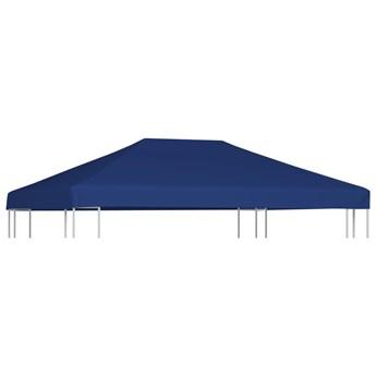 vidaXL Zadaszenie altany, 310 g/m², 4 x 3 m, niebieskie